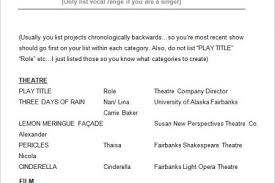 Theatre Resume Examples by Acting Resume Beginner Within Acting Resume Sample Beginner Resume