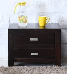 two drawer bedside table buy oriel solid wood two drawer bed side table in warm chestnut