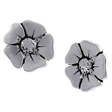 flower stud earrings journee collection sterling silver flower stud earrings target