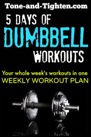 weekly workout plan 5 days of great dumbbell workouts to home