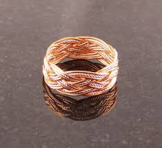 silver wire rings images Buy a handmade copper sterling silver wire rope turk 39 s head knot jpg