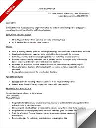 ingenious ideas physical therapy resume examples 4 best physical