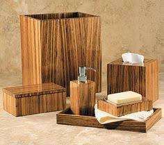 Wooden Bathroom Accessories Set by Dino