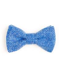 cornflower blue donegal tweed bow tie cornflower blue orwell browne