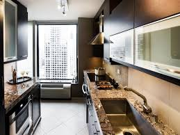 Long And Narrow Kitchen Designs Kitchen Decorating Gallery Style Kitchen Traditional Galley