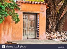 santa fe style adobe wall stock photo royalty free image