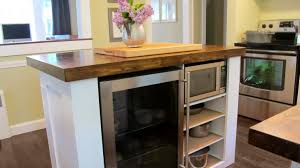uncommon design of rolling cart kitchen in build kitchen cabinets