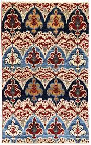 Ethan Allen Oriental Rugs Floors U0026 Rugs Oriental Blue And Red Ikat Rug For Modern Living