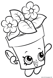 coloring pages to print shopkins shopkins flowers new coloring pages printable throughout color