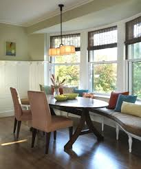big small dining room sets with bench seating and light oak