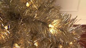 chagne gold artificial tree