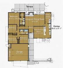 modern style house plan 4 beds 2 00 baths 1706 sq ft plan 470 8
