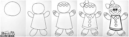 draw a gingerbread boy and step into 2nd grade with mrs