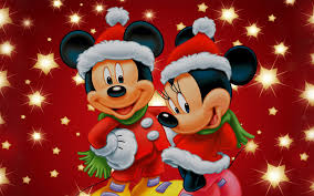 mickey and minnie mouse christmas theme desktop wallpaper hd for