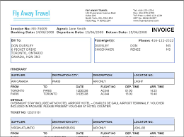 travel agency invoice format excel invoice templates