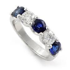 Diamond Sapphire Wedding Ring by Blue Sapphire U0026 Diamond Ring For Wedding Band Or Anniversary Ring