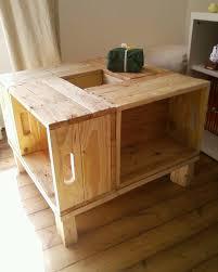 cache conteneur bois meuble en bois de palette table basse meubles et rangements