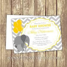 baby elephant baby shower or first birthday invitation 0430 u2013 the