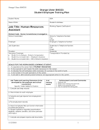 Sample Training Resume by Sample Training Plan Net10 Number Change