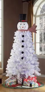 time pre lit 6 5 ft snowman tree walmart