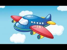 cartoon planes sky