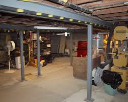 basement support beams home design styles