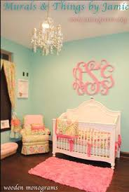 Pink And Green Nursery Decor Pink And Green Nursery Decor With Aqua Wall Paint Color