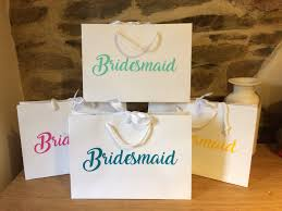 bridesmaid gift bags personalised bridesmaid gift bags any wording large a4 landscape