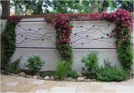 Garden Wall Decoration Ideas Backyard Backyard Fence Decorating Ideas Awesome Garden Wall