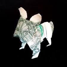 french bulldog money origami 3d figurine dog gift handmade of real