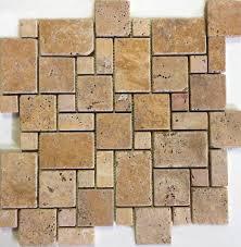 tumbled gold travertine mini pattern mosaic perfect for wall
