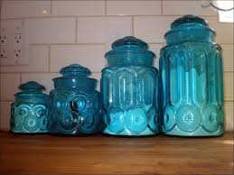 kitchen antique blue glass kitchen canisters ideas blue kitchen