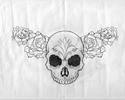 sugar skull tattoo design by esferograffico feathers u0026 skulls