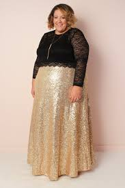 sequin skirt plus size the showstopper sequin maxi skirt gold new society