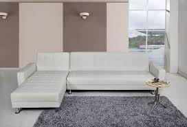 White Leather Sofa Bed Uk Spencer Corner Sofa Bed With Interchanging Chaise In White Faux