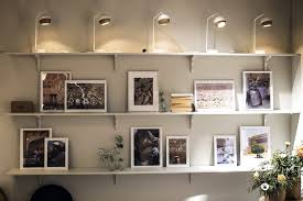 wall mounted open shelves offering space savvy modularity dining