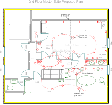larchmont master bathroom suite floor plan