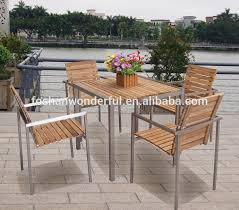 Teak Stainless Steel Outdoor Furniture by Stainless Steel Outdoor Furniture Stainless Steel Outdoor