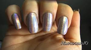 china glaze cyberspace vs nfu oh 62 holographic nail polish youtube