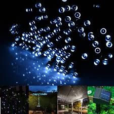 Solar Landscaping Lights Outdoor by Solar Powered Outdoor String Lights From Inst Front Yard