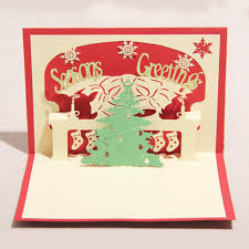 digital christmas cards 100mm 150mm high quality handmade merry christmas tree words