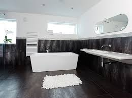 white and black bathroom rectangle shape white black colors