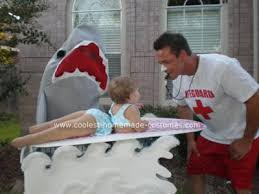 Shark Attack Victim Halloween Costume Coolest Homemade Surfer Shark Costume Shark Costumes