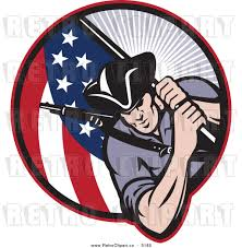 Soldier With Flag American Patriotic Clip Art 48