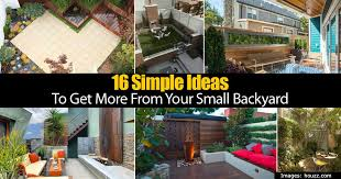Houzz Backyards 16 Simple Ideas To Get More From Your Small Backyard