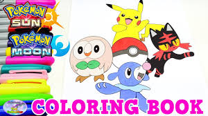 pokemon sun moon coloring book pikachu episode speed colouring