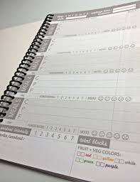 zone diet journal diary food log printed by us on etsy