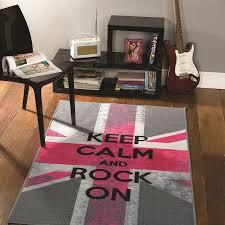 tapis chambre ado rock on flair rugs 100x160 chambre cloe