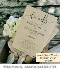 Rustic Wedding Program Template Invitaciones Y Papelería 20 Weddbook