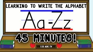how to write letters a z u2013 learning to write the alphabet for kids